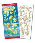 Flowers Match It Outline Stickers 6508
