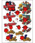 Mr Men DIE CUT Decoupage ~ Mr Strong