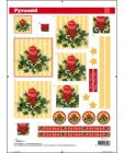 Pyr Decoupage Christmas Candles sl10