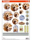 Pyramid DIE CUT Decoupage Puppies sl 162