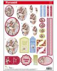 Pyramid DIE CUT Decoupage Flower Fairies sl57