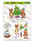 Christmas Petite Sheets A5 Decoupage Tinsel Tots Christmas Tree