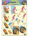 Skiiing, Golf & Darts 3D Step by Step Decoupage 888