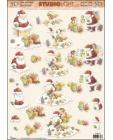 Santa in Chimney 3D Step by Step Decoupage 479