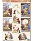 Jesus in Manger 3D Step by Step Decoupage 480
