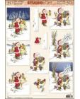 Santa & Reindeer 3D Step by Step Decoupage 484