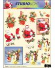 Candles, Santa & Snowman 3D SBS Decoupage 970