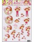 10 Strawberry Shortcake 3D Step by Step Decoupage