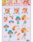 03 Strawberry Shortcake 3D Step by Step Decoupage