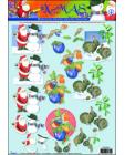 04 XMAS Santa n Snowman etc 3D Stp by Step Decoupage