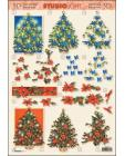 Christmas Trees 3D Step by Step Decoupage