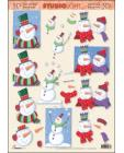 Happy Snowman 3D Step by Step Decoupage 463