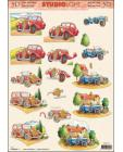 Classic Cars 3D Step by Step Decoupage 775
