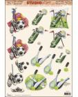 Tennis, Golf, Footie 3D Step by Step Decoupage 838
