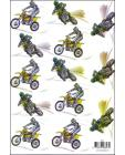Motorbikes 3D Step by Step Decoupage