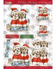 A4 Christmas Decoupage - Santas Little Helpers