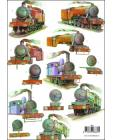 Trains 3D Step by Step Decoupage 660